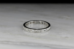 French Art Deco / Mid-Century Eternity Ring