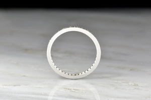 Vintage Art Deco / Mid-Century Single Cut Diamond Eternity Wedding Band