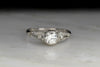 c. 1930s Bailey, Banks, & Biddle Engagement Ring with a Bezel Set Diamond Center