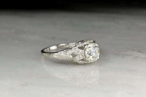 Circa 1920s - 1930s Late Edwardian Engagement Ring