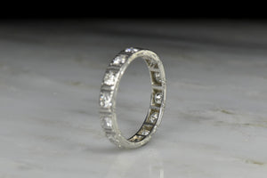 Art Deco Vintage Striated Eternity Band