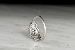 c. 1920s Post-Edwardian / Early Art Deco Old European Cut Diamond Ring