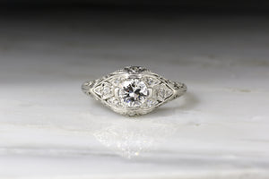 c. 1920s Edwardian Old European Cut Diamond Engagement Ring