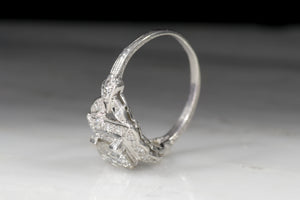 Vintage Engagement Ring: Edwardian, Art Deco Ring with GIA Old European Diamond