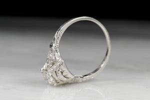 Edwardian .75 Carat Old European Cut Diamond Engagement Ring