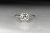 Art Deco/Mid-Century Engagement Ring with a GIA 2.08 Old European Cut Diamond Center