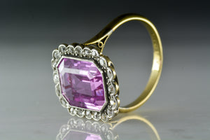 Victorian Pink Sapphire and Antique Single Cut Diamond Ring