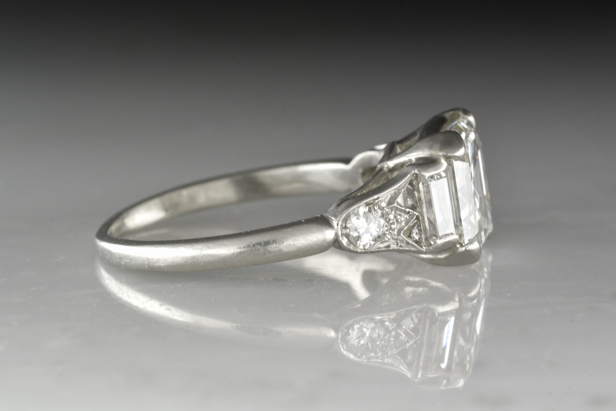 rings ring engagement vintage asscher cut venice