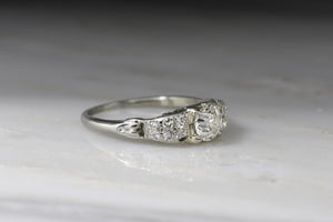 Vintage Art Deco / Retro Traub-Orange Blossom Old European Cut Diamond Engagement Ring