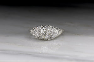 Edwardian .75 Carat Old Mine Cut Diamond Engagement Ring