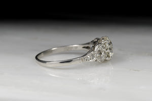 Edwardian 1.65 Carat Old European Cut Diamond Engagement Ring
