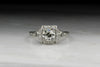 Vintage Edwardian / Art Deco .89 Carat Old European Cut Diamond Engagement Ring