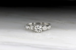 Late Art Deco Old European Cut Diamond Engagement Ring