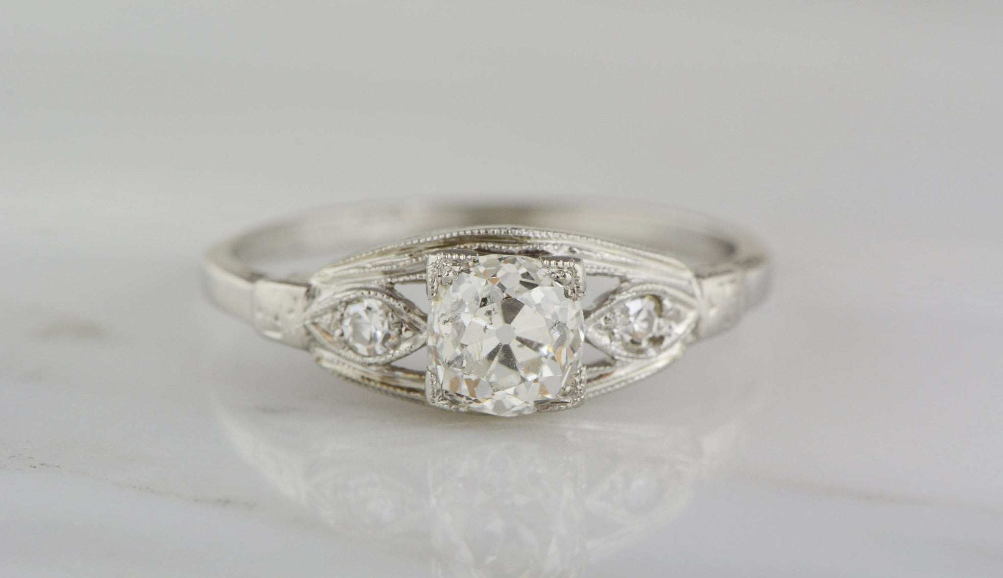 engagement sequence vintage european cut ring edwardian ctw old products carat diamond