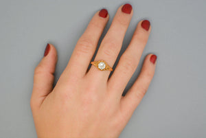 .80 ct. Old European Cut Diamond Solitaire Victorian Engagement Ring in 18K Gold
