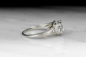 Edwardian Old European Cut Diamond Engagement Ring with Elegant Open Filigree