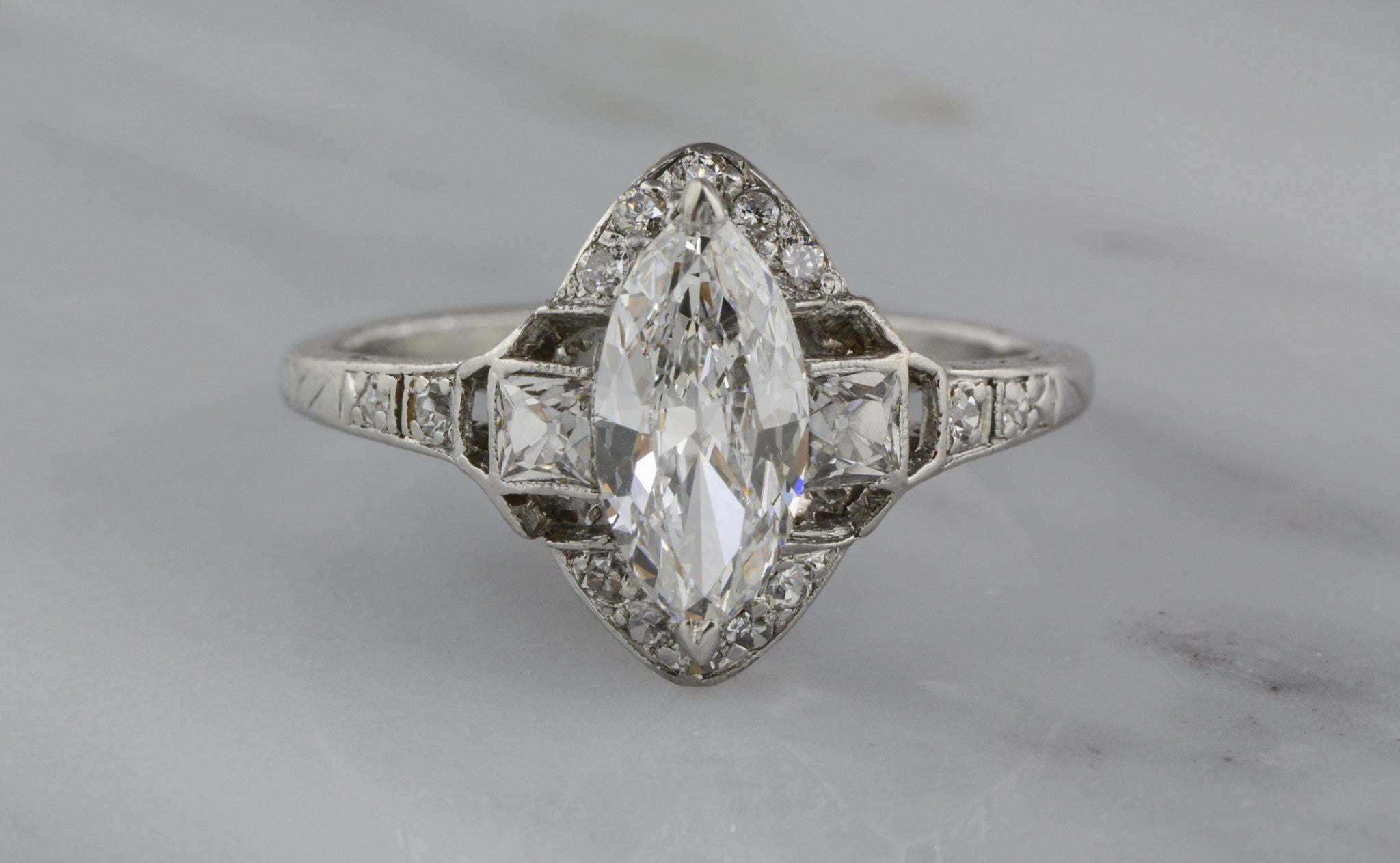 solitare days rings accent ring cut engagement marquise endless