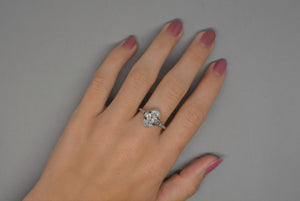 1.10 Carat Marquise Cut Diamond in Platinum Art Deco Engagement Ring with French Cut Diamond Accents R829