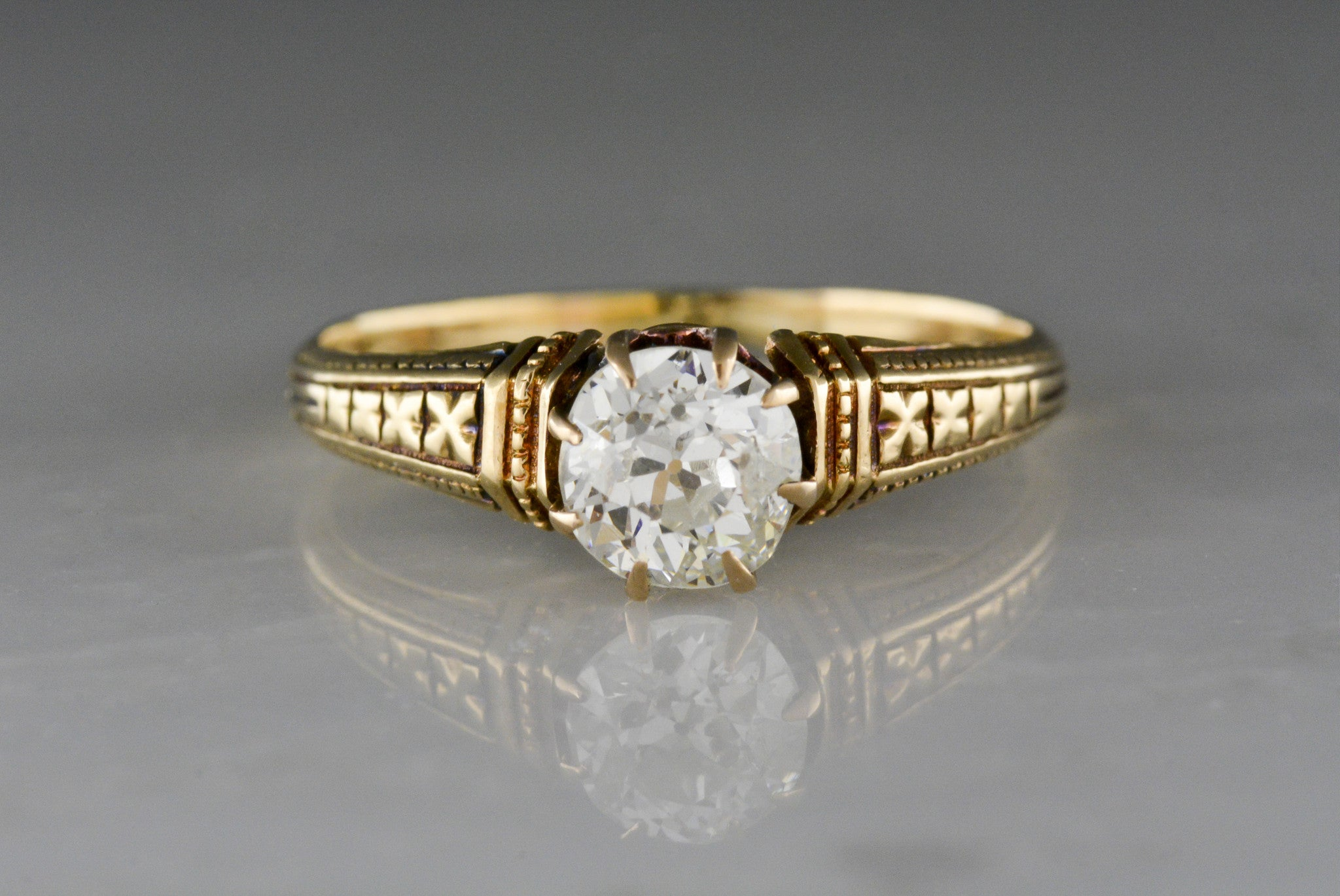 rings engagement jewelry product in cut the page old mine yellow diamond ring solitaire category castle p gold