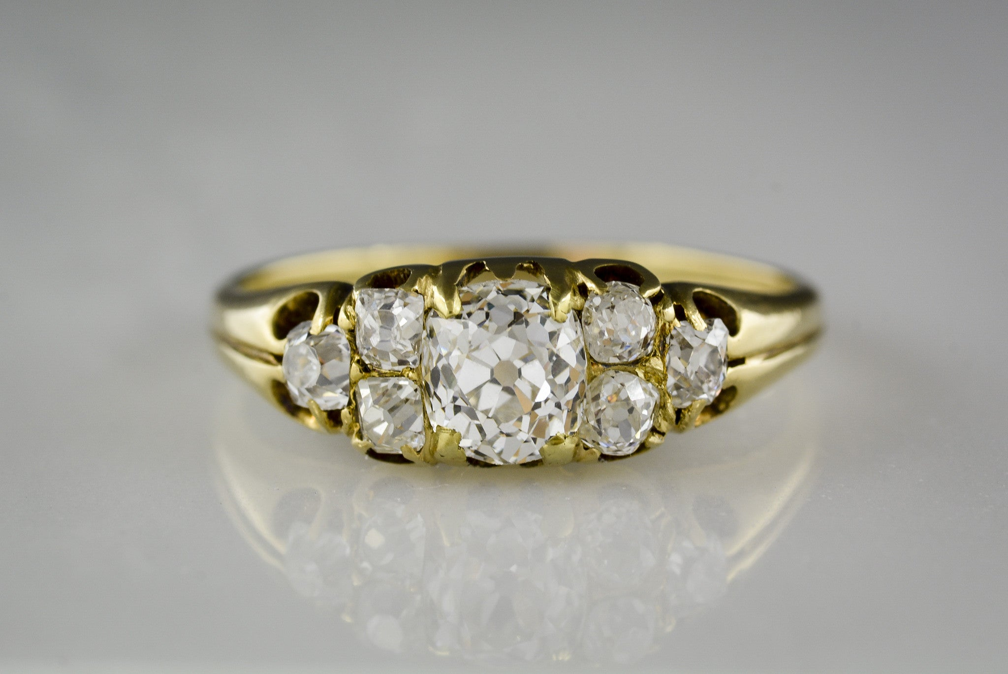 right ring trillion engagement bead diamonds melee gold carat center yellow and hand with set diamond store