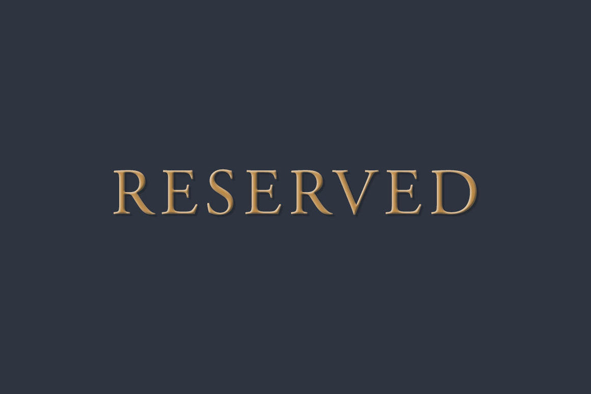 RESERVED!!! Private Listing