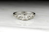 Vintage Art Deco Asscher Cut Diamond Engagement Ring