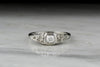 Antique Art Deco, Retro Old Mine Cut Diamond and 18K White Gold Engagement Ring