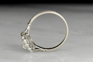 Art Deco Ring with Victorian-Style Halo and GIA .91 Carat OEC Diamond Center