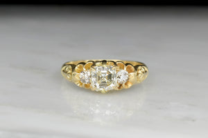 World War One Asscher Cut Diamond Engagement Ring