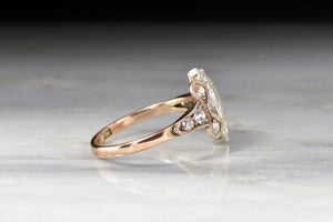 Victorian Marquise Cut and Old European Cut Diamond Ring