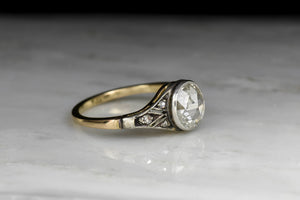 Victorian Bezel-Set Diamond Engagement Ring