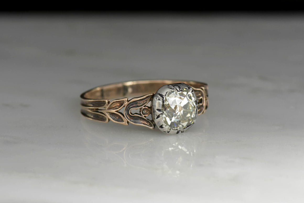 Post-Georgian / Victorian Rose Gold Diamond Ring