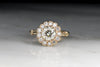 Victorian .95 Carat Old European Cut Diamond Engagement Ring with a .40 ctw Diamond Halo