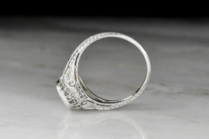 RESERVED!!! Exquisite Late Edwardian Engagement Ring Dated 1921
