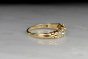 Late Victorian Half-Hoop Old Mine Cut Diamond Band