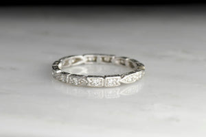 Art Deco Alternating Pattern Eternity Band