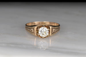 Victorian Buttercup Engagement Ring With Subtle Patina