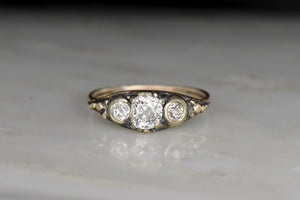 Victorian Old Mine Cut Diamond Gold Engagement Ring