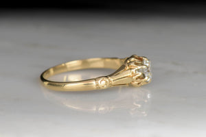 Victorian Épaulette and Buttercup Engagement Ring