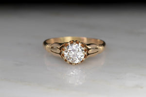 Victorian Gold and GIA Certified Old European Cut Diamond Engagement Ring