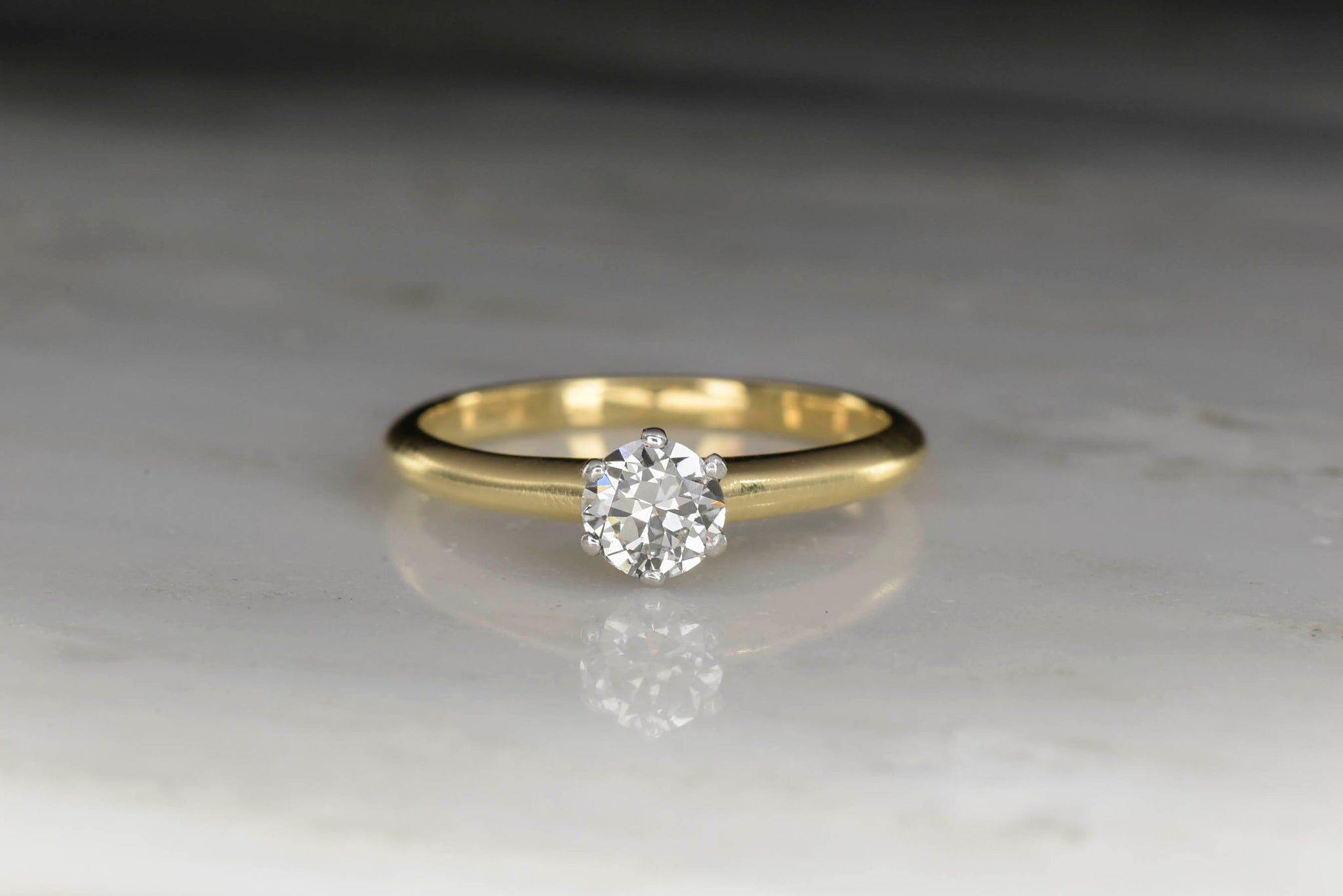 814e9ddb2 Vintage Tiffany & Co. Solitaire Engagement Ring - Pebble and Polish