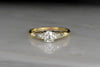 Mid-Century GIA certified Old Mine Cut Diamond Engagement Ring