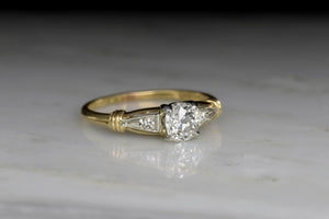 Mid-Century Two-Toned Diamond Engagement Ring