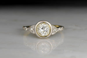Belle Époque Engagement Ring in Gold and Platinum