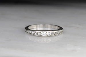 Art Deco/Mid-Century Flared Diamond Band