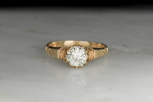 Victorian GIA 1.09 Old European Cut Engagement Ring