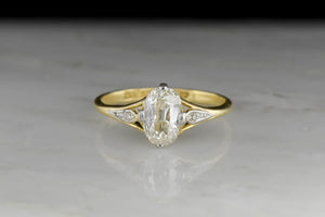 Belle Époque Oval Cut Diamond Engagement Ring