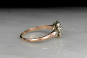 Victorian Rose Gold and Platinum Halo Ring