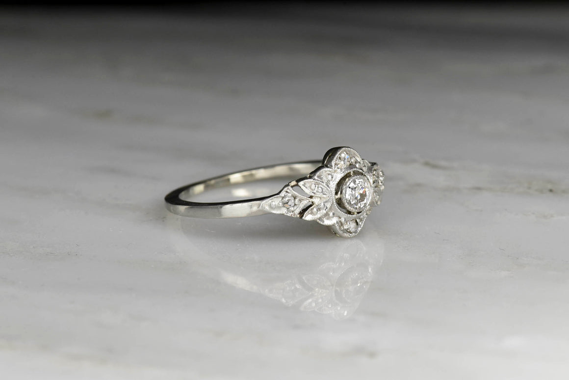 Petite Edwardian Diamond Engagement or Fashion Ring