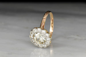 Late Victorian Floral Halo Ring